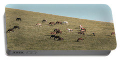Horses On The Hill Portable Battery Charger