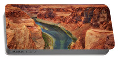 Portable Battery Charger featuring the photograph Horseshoe Bend Arizona - Colorado River #2 by Jennifer Rondinelli Reilly - Fine Art Photography
