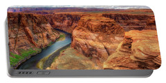 Portable Battery Charger featuring the photograph Horseshoe Bend Arizona - Colorado River $4 by Jennifer Rondinelli Reilly - Fine Art Photography