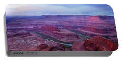 Portable Battery Charger featuring the photograph Horseshoe Bend At Dawn by Marie Leslie