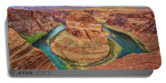 Portable Battery Charger featuring the photograph Horseshoe Bend - Colorado River - Arizona by Jennifer Rondinelli Reilly - Fine Art Photography