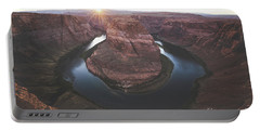 Horseshoe Bend Sunset Portable Battery Charger by JR Photography