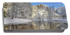 Horsetail Fall Reflections Winter Yosemite National Park Portable Battery Charger