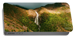 Horsetail Falls In Queenstown Tasmania Portable Battery Charger
