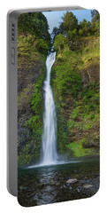 Horsetail Falls In Spring Portable Battery Charger by Greg Nyquist