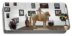 Virtual Exhibition -statue Of Horsewoman 12 Portable Battery Charger by Pemaro