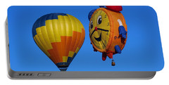 Portable Battery Charger featuring the photograph Hot Air Balloon Conversation by Dart and Suze Humeston