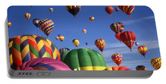 Beautiful Balloons On Blue Sky - Color Photo Portable Battery Charger