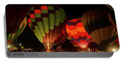Hot Air Balloons At Night October 28, 2017 #1 Portable Battery Charger