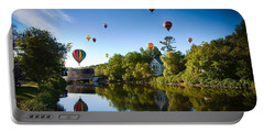 Hot Air Balloons In Queechee 2015 Portable Battery Charger by Jeff Folger