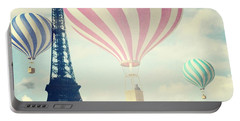 Hot Air Balloons In Paris Portable Battery Charger
