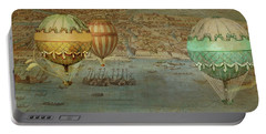 Portable Battery Charger featuring the digital art Hot Air Baloons Over Venus by Jeff Burgess