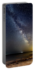 Hot August Night Milky Way Portable Battery Charger by Patrick Fennell
