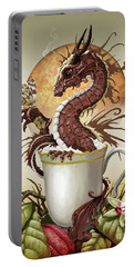 Portable Battery Charger featuring the digital art Hot Chocolate Dragon by Stanley Morrison