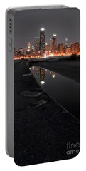 Chicago Hot City At Night Portable Battery Charger