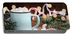Hot Cocoa With Marshmallows And Candy Canes Portable Battery Charger