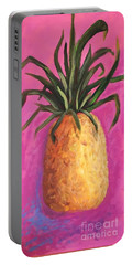 Hot Pink Pineapple Portable Battery Charger