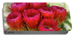 Portable Battery Charger featuring the photograph Hot Pink Torch Cactus Bouquet  by Saija Lehtonen
