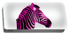 Hot Pink Zebra Portable Battery Charger