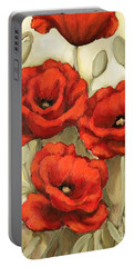Hot Red Poppies Portable Battery Charger