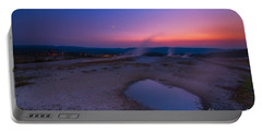 Hot Spring Sunset Portable Battery Charger