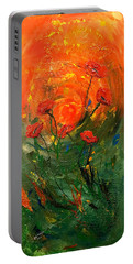 Hot Summer Poppies Portable Battery Charger by Dorothy Maier