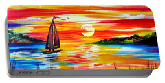 Hot Summer Sunset  Portable Battery Charger