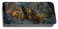 Hot Sunset In The Forest Portable Battery Charger