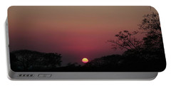 Portable Battery Charger featuring the photograph Hot Tropical Sunset by Ellen Barron O'Reilly