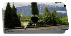 Hot Tub And Wine Portable Battery Charger by Robert Meanor