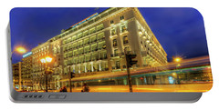 Portable Battery Charger featuring the photograph Hotel Grande Bretagne - Athens by Yhun Suarez