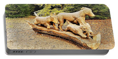 Hounds On The Run Portable Battery Charger by John Williams