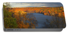 Portable Battery Charger featuring the photograph Housatonic In Autumn by Karol Livote