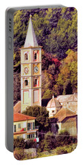 House, Church And Castle Portable Battery Charger by Jennie Breeze