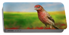 House Finch Portable Battery Charger by Steven Richardson