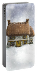 House In Snow Portable Battery Charger