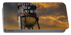 Portable Battery Charger featuring the photograph House Of Blues  by Laura Fasulo