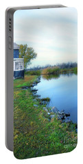 Portable Battery Charger featuring the photograph House On A Lake by Jill Battaglia