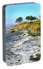 Portable Battery Charger featuring the photograph House On The Point Cayucos California by Barbara Snyder