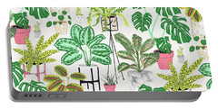House Plants Portable Battery Charger