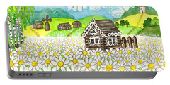 House With Camomiles, Painting Portable Battery Charger