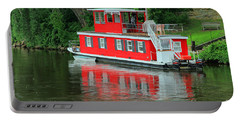 Houseboat On The Mississippi River Portable Battery Charger