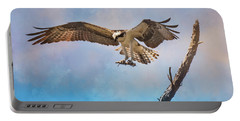 Housekeeping Osprey Art Portable Battery Charger by Jai Johnson