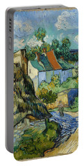 Portable Battery Charger featuring the painting Houses In Auvers by Van Gogh