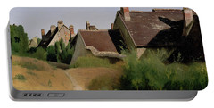 Portable Battery Charger featuring the painting Houses Near Orleans by Jean-Baptiste-Camille Corot