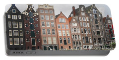 Portable Battery Charger featuring the photograph Houses Of Amsterdam by Therese Alcorn