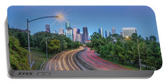 Houston Evening Cityscape Portable Battery Charger