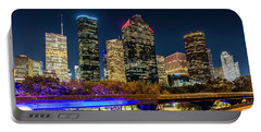 Portable Battery Charger featuring the photograph Houston Skyline From I-45 by Andy Crawford