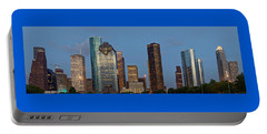 Portable Battery Charger featuring the photograph Houston Skyline Panorama by Jonathan Davison