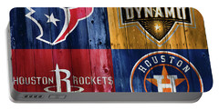 Houston Sports Teams Barn Door Portable Battery Charger